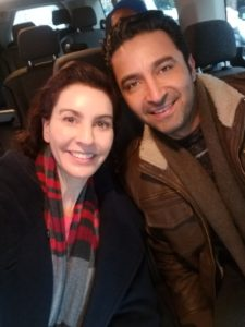 Filming NBC's The Village with the amazing Pej Vahdat!